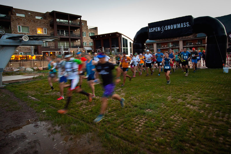 The start of The Power of Four Trail Race.