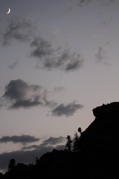 Evening silhouette along the Walker Ranch Trail