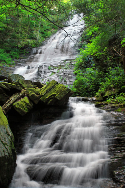 Angel Falls (entire drop angle #2)  from Loyalsock Trail
