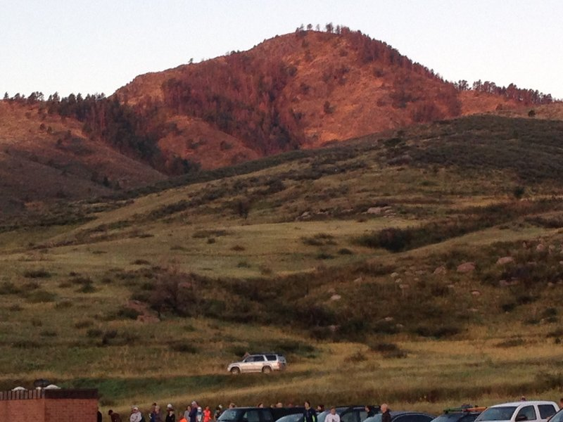 View from the Quad Rock start/finish - yes, you're running somewhere up there!