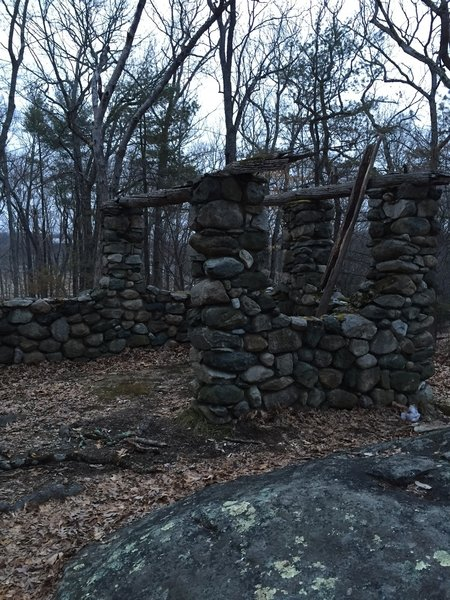 Old Stone Cabin on the Lincoln Woods Trail