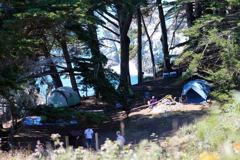 Only two campsites in Julia Pfeiffer Burns SP.