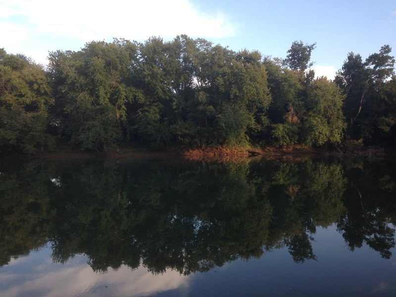 The Barren River from the parking lot