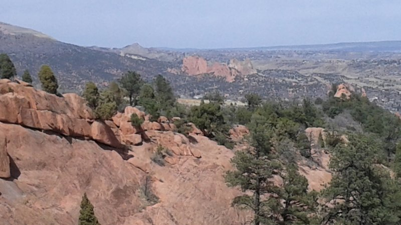 Great view to the north of Garden of the Gods from the Palmer Trail