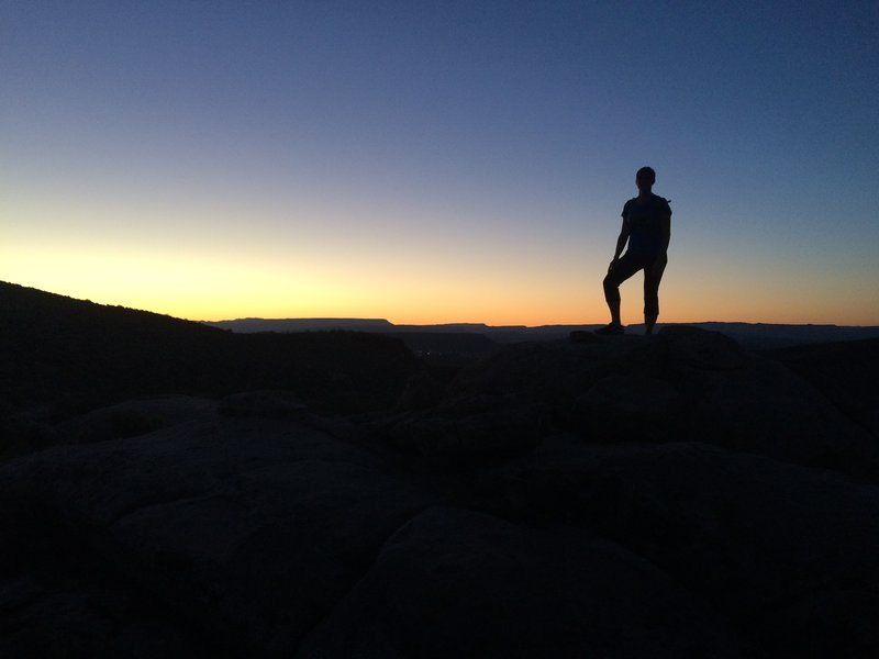 Barrell Roll Trail sunrise