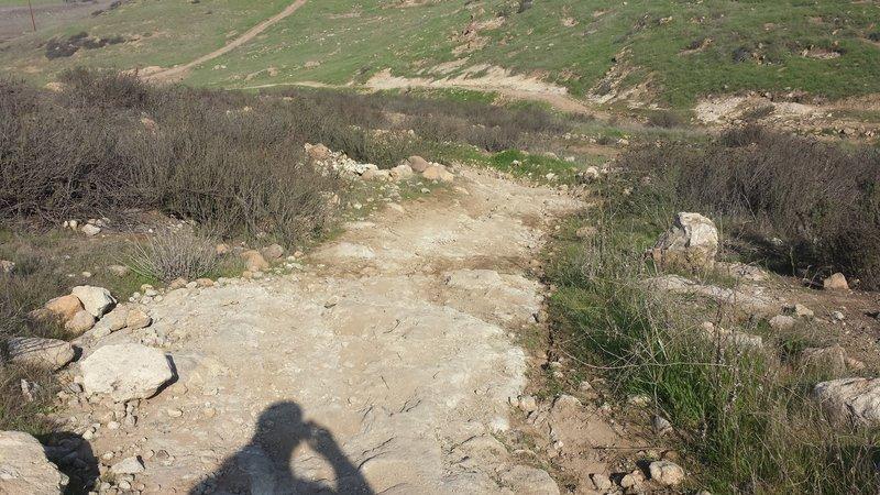 Rocky bottom of Corkscrew on the backside of Bonelli Trail