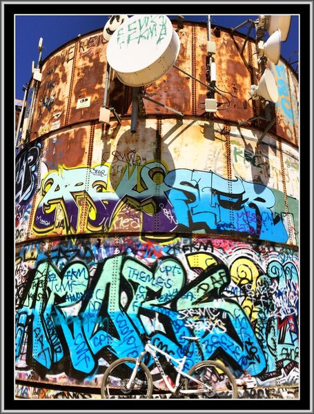 The Turnbull Canyon water tower