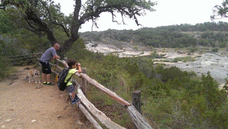 Perdenales Falls overlook