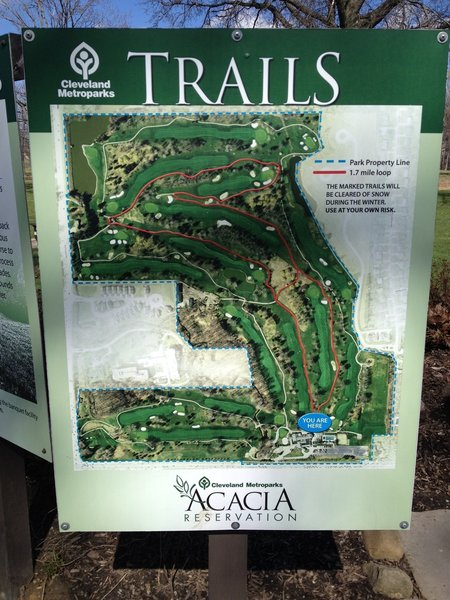 Map of the entire Acacia trail system.