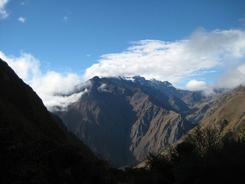 View from camp on night 2 on the Inca Trail.  (4 day, 3 night hike)
