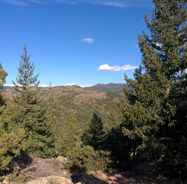 View north from the top of the Eldorado Canyon Trail.