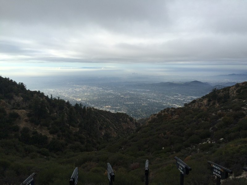 View of LA from the top of Inspiration Point