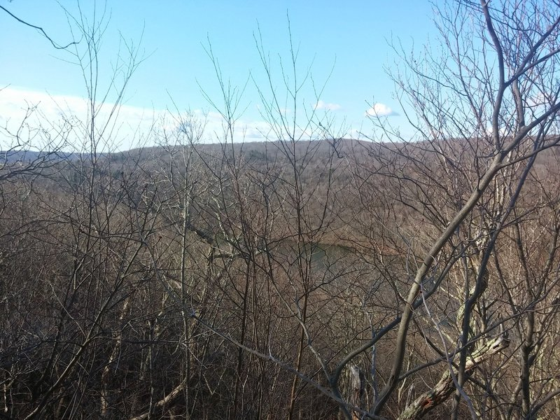 Looking across the river from the Kettletown Blue/White Trail