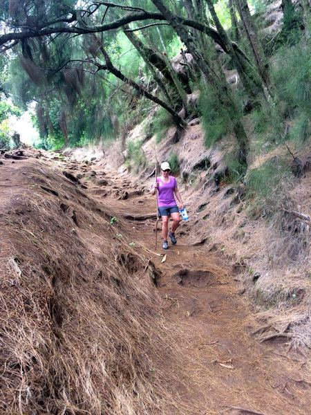 The trail is very steep, and can be slick.