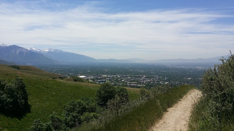 Overlooking the Great Basin from the BST (Bonneville Shoreline Trail).