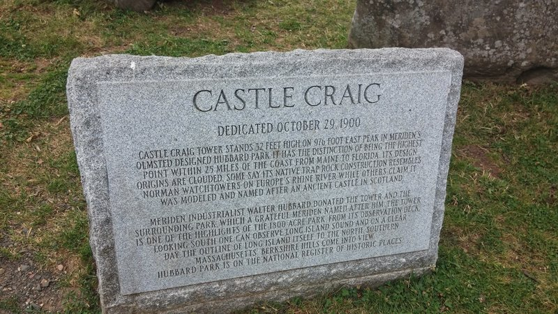 Castle Craig plaque