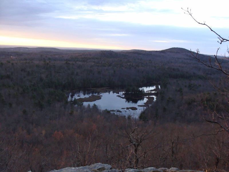 View from Pratt Mtn. over Binney Pond