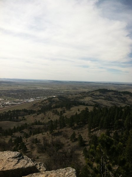 Looking back down the Lookout Mountain Trail to the northwest.