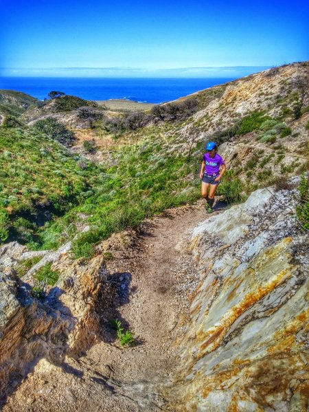 Climbing the Rattlesnake Flats Trail