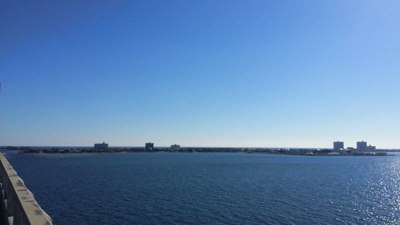 From the beach bridge, looking toward the beach