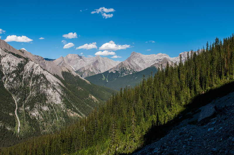 The initial portion of the descent down Edith Pass. Gravel lined path, but don't forget to look up and take it all in!