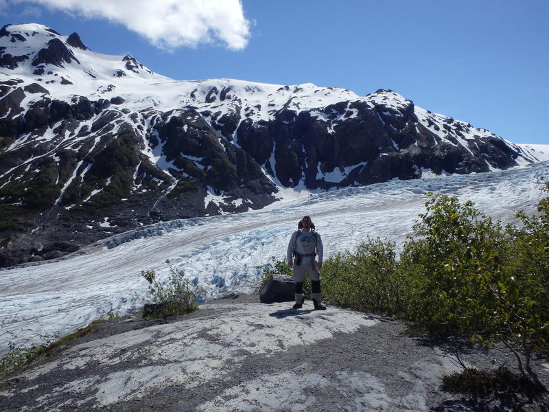This is the Harding Icefield Trail that runs along Exit Glacier  (you can see in the background) in Kenai Fjords National Park. The trail ends at the Harding Icefield with great panoramic view. This was about 2 miles into the 8.2 mile roundtrip out and back hike.