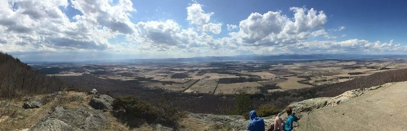 Summit of Snake Mountain, taken on top of the foundation of the Grand View Hotel