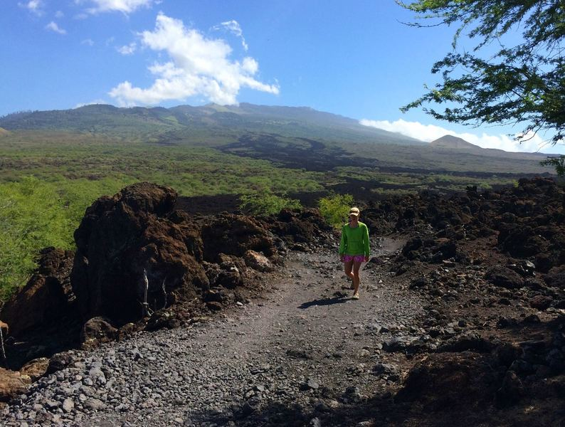 Amazing views of the 1790 lava flow (black fingers coming down the mountain) - the last on Maui.