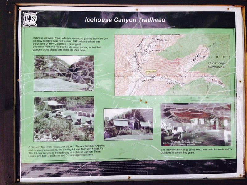 Entry sign at the trailhead, with a brief overview of the historical characteristics of the site.