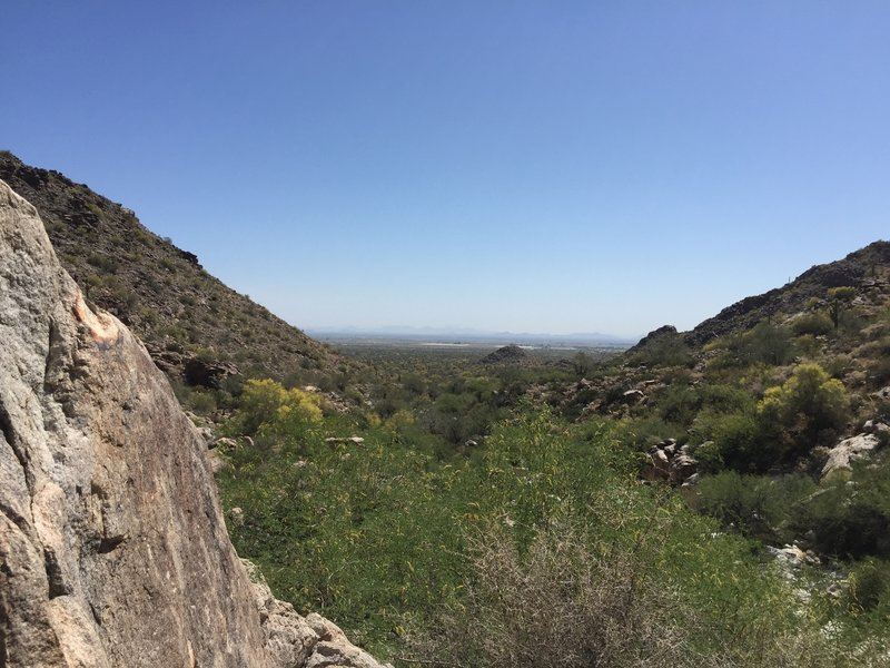Looking back towards Phoenix from the Waterfall Canyon Trail