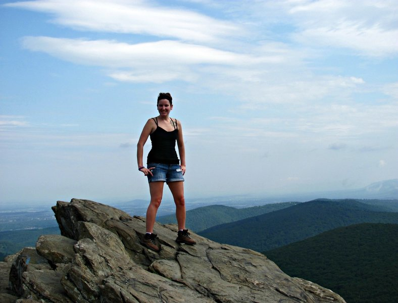 Summit of Humpback Rocks on the Blue Ridge Parkway
