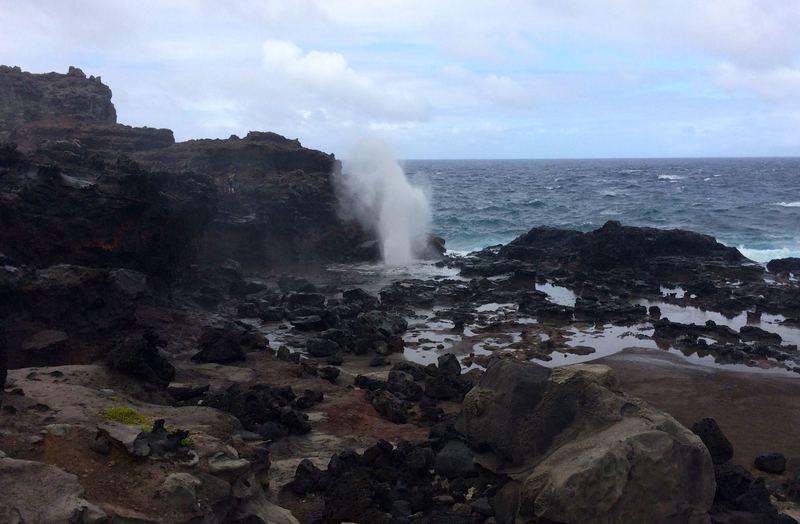 Pretty crazy landscape where the blowhole erupts.