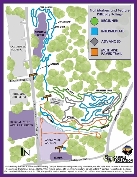 Map of trails - SFA Recreational Trails