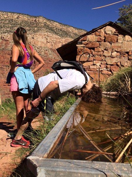 An enjoyable head soaking on the Hermit Trail...