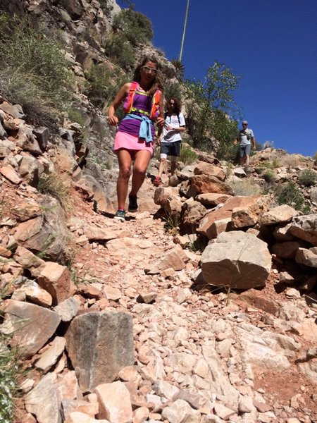 Hermit's Trail does get steep, but super fun