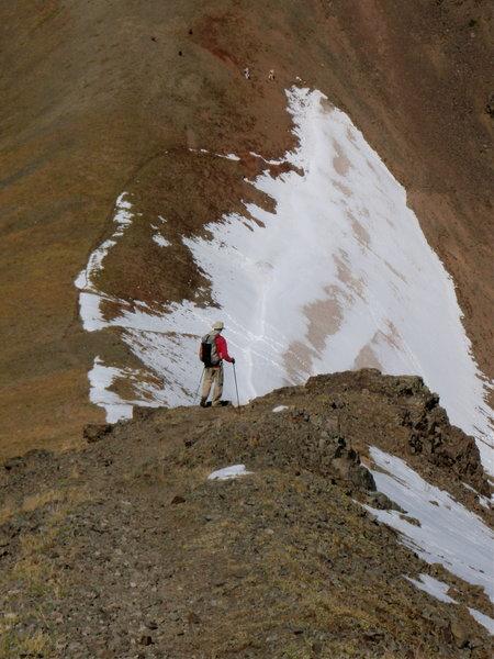 Descending Hyalite Peak