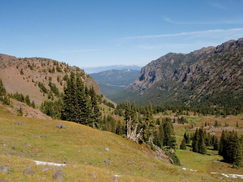Looking down the Hyalite Creek valley