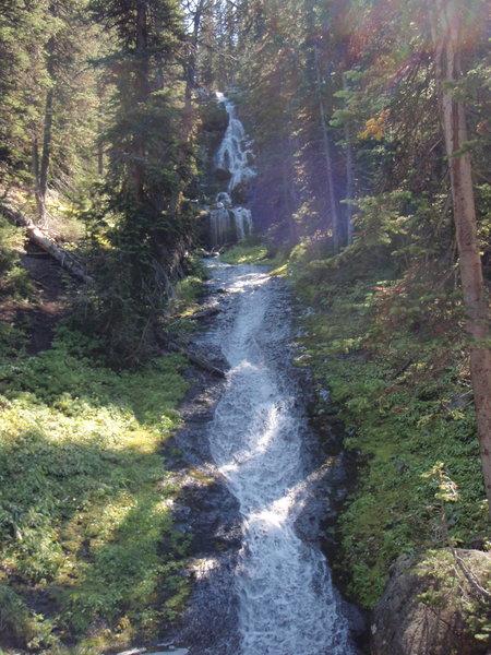 Waterfall near the Hyalite Peak Trail