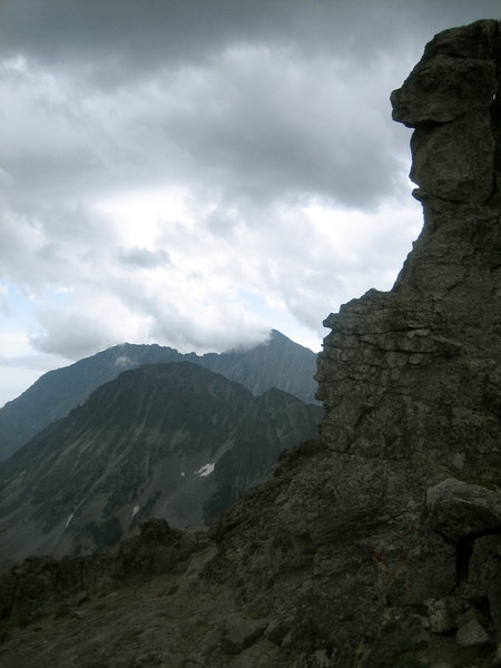 Granite Peak from the South ridge of Conical Peak.