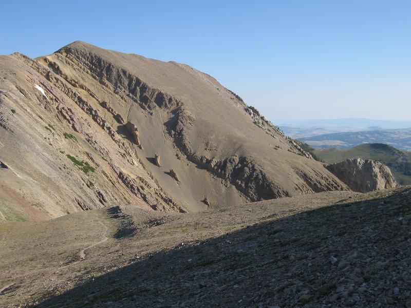 Looking North from the shoulder of Sacagawea Peak