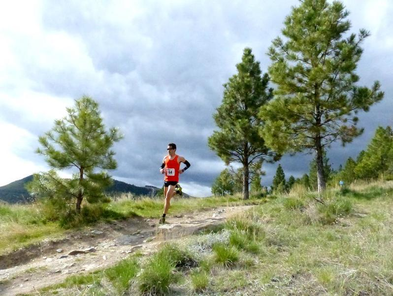 Coming down off Mt. Helena in the Don't Fence Me In 30k.