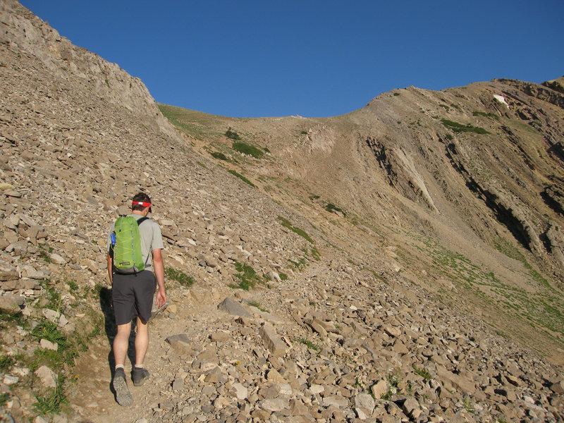 Gaining Sacagawea Peak