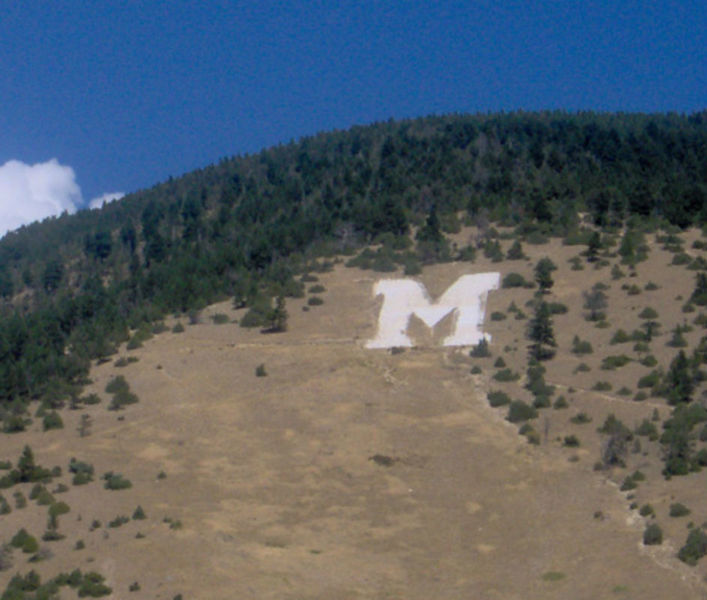"""The College """"M"""" from the The College M Trail."""