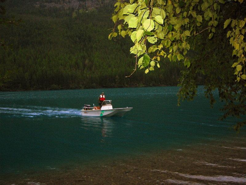 National Park Service ranger boat.