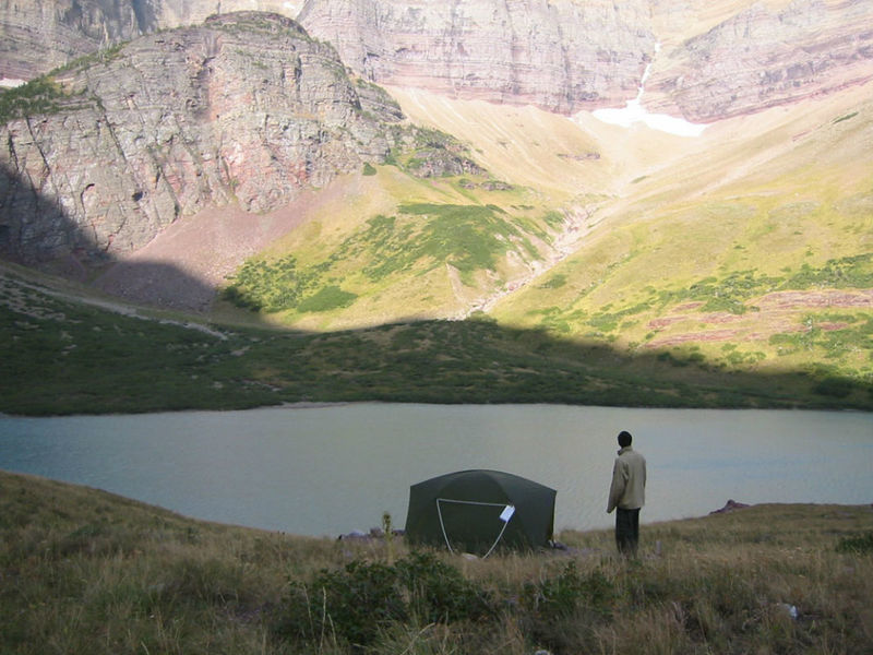 Cracker Lake camp