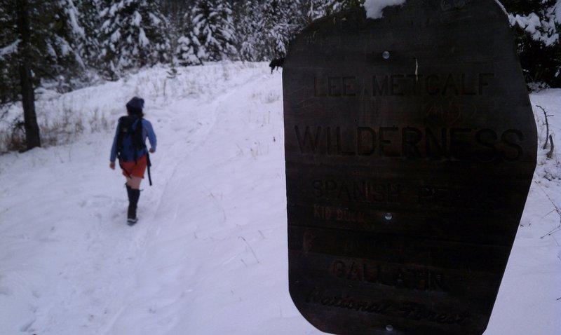 Hiking up the Spanish Creek trail