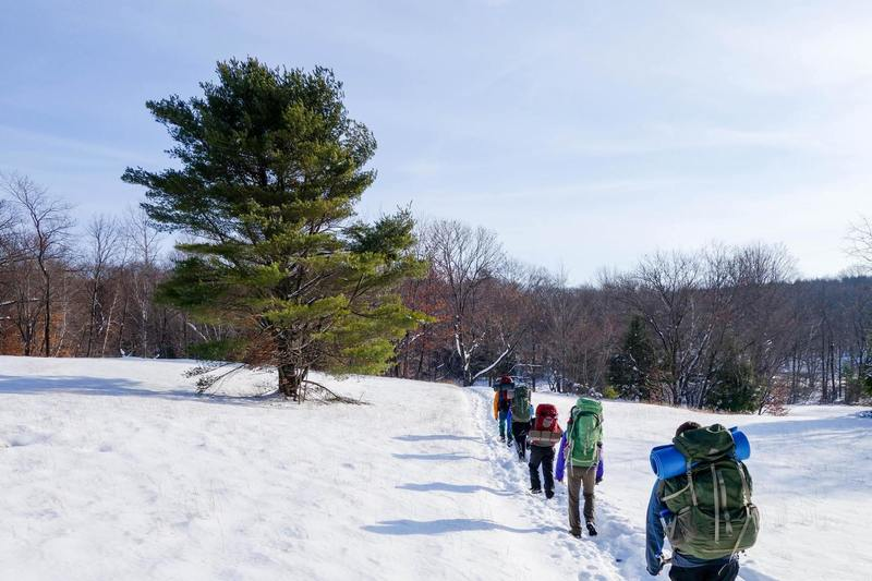 Winter backpacking at Alander Mountain.