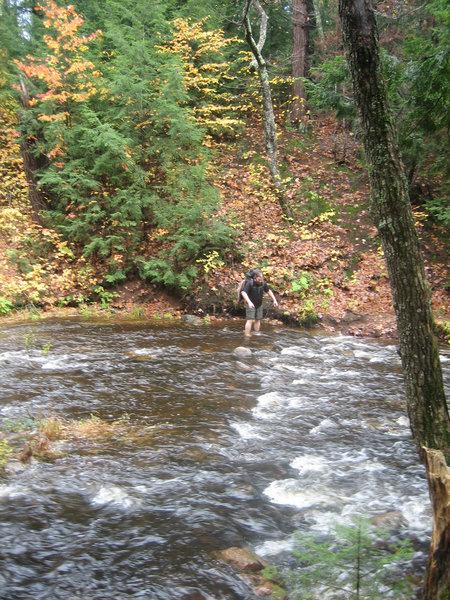 Stream crossing  on the Carp River Trail