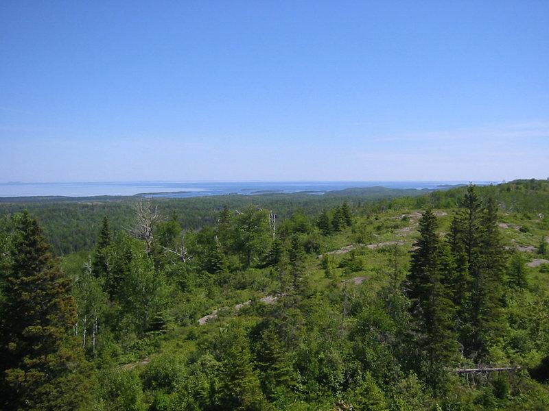 Lake Superior from the Minong Ridge Trail
