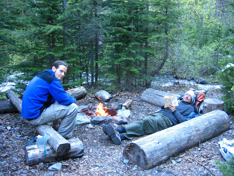 Camping at Upper Park Creek